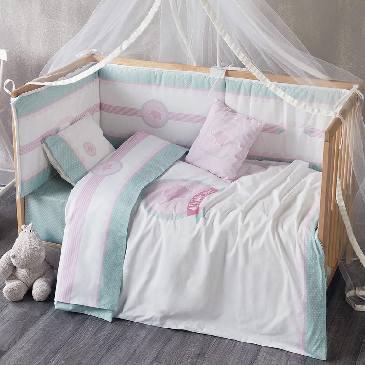 Παπλωματοθήκη Κούνιας (Σετ) Kentia Baby Welcome Baby 14