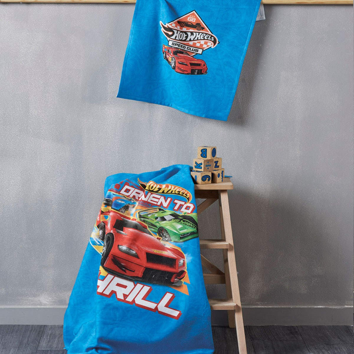 Πετσέτα Σώματος (70x125) Kentia Kids Hot Wheels 20