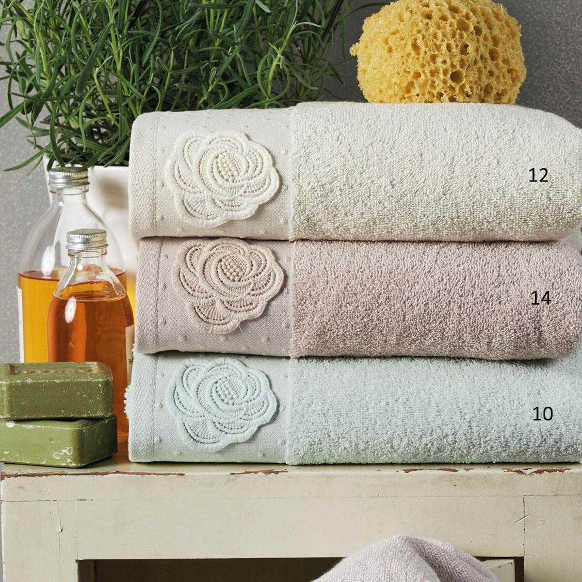 Πετσέτες Μπάνιου (Σετ 3τμχ) Kentia Bath Junia