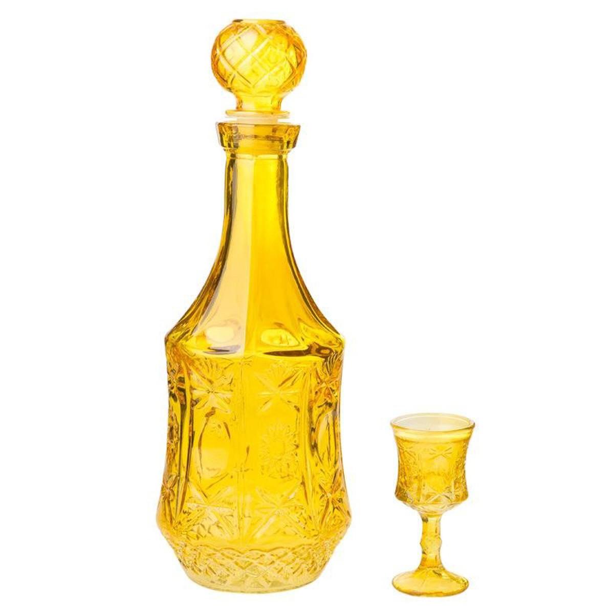 Καράφα (Σετ 7 Τμχ) InArt Algiers Yellow 3-70-223-0019