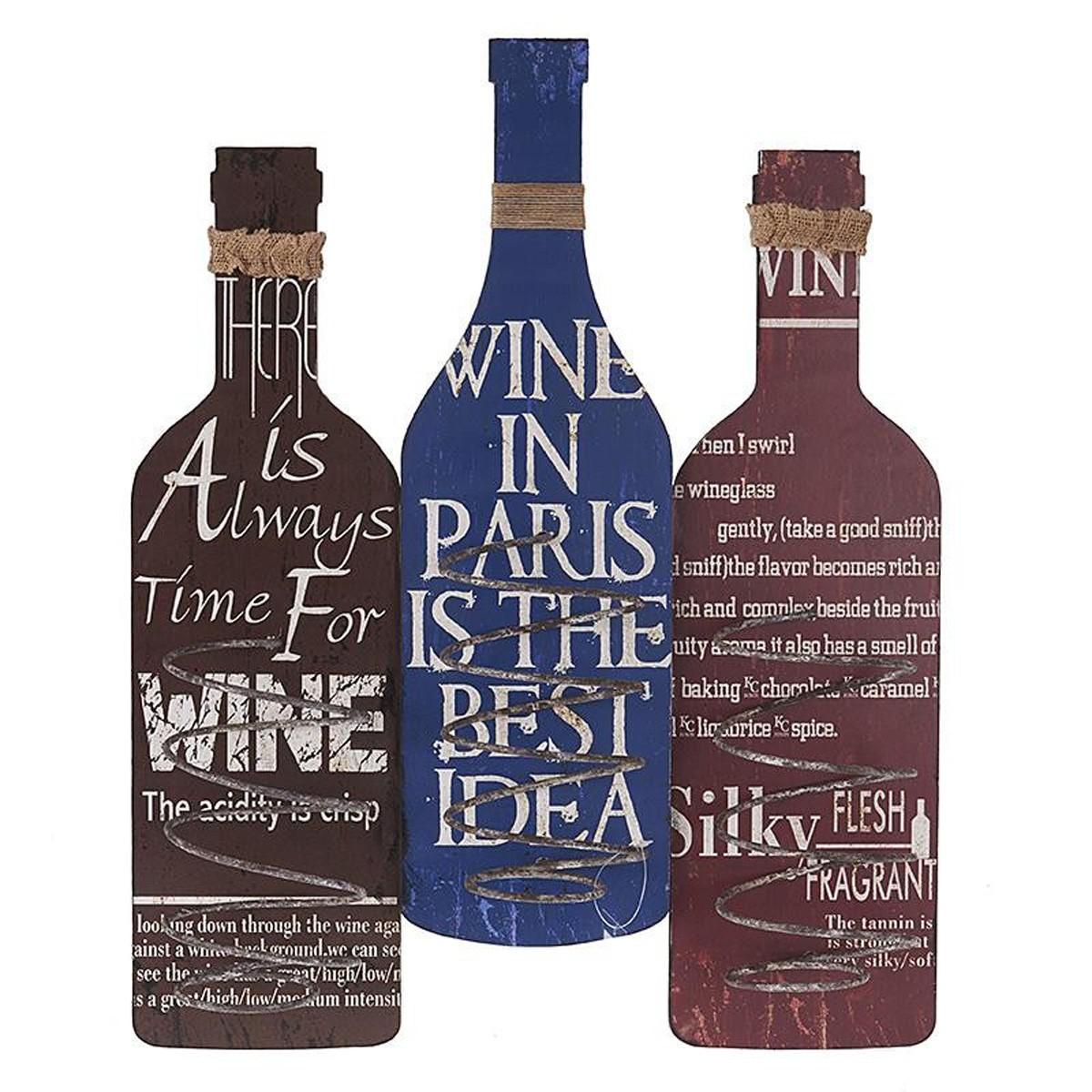 Θήκη Κρασιών Τοίχου InArt Wine Time 3-70-386-0036