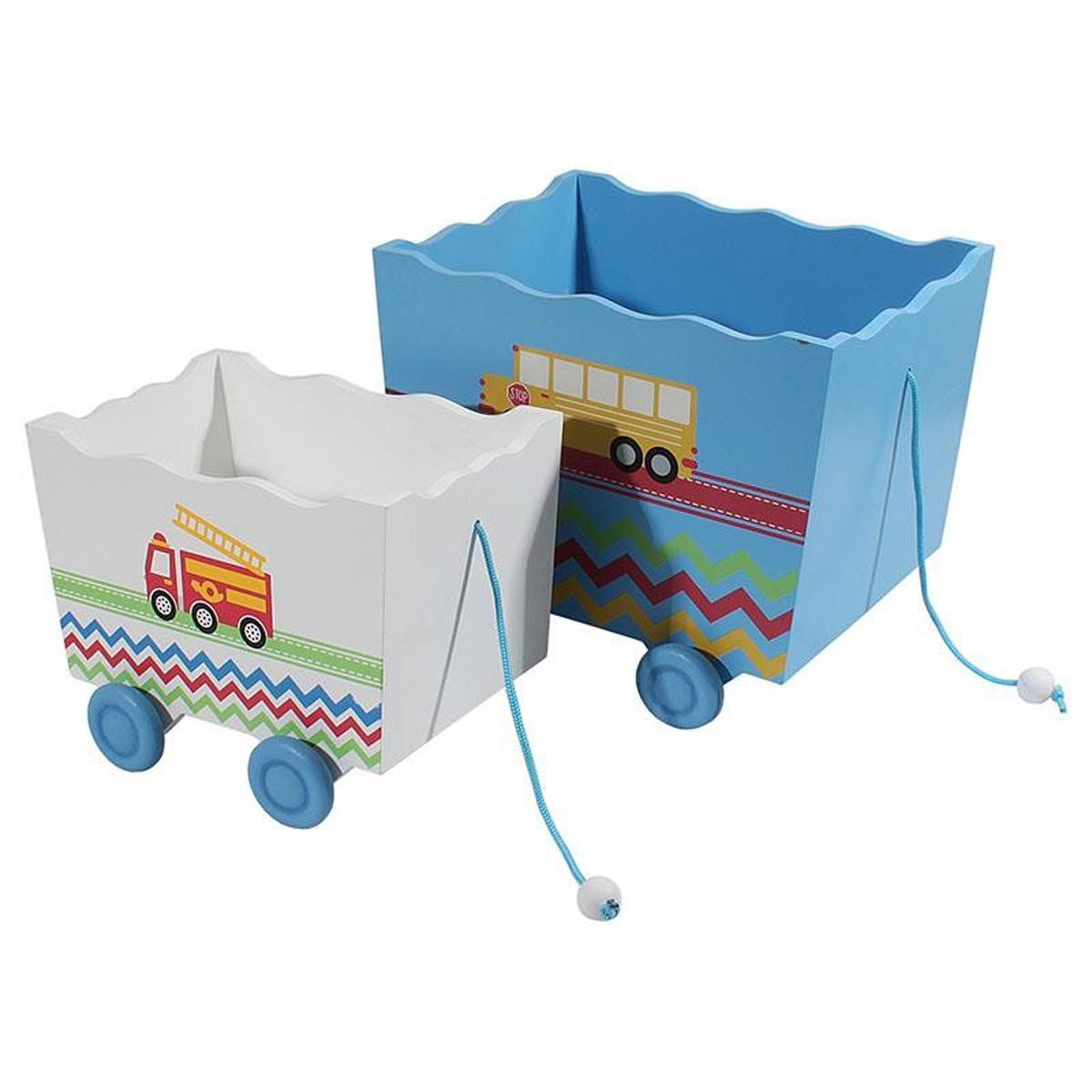 Παιδικά Καλάθια (Σετ 2τμχ) InArt Trucks 3-70-304-0002
