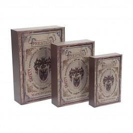 Κουτιά (Σετ 3τμχ) InArt Matchbox 3-70-939-0072