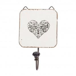 Κρεμαστράκι InArt White Heart 3-70-496-0073