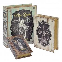Κουτιά/Βιβλία (Σετ 3τμχ) InArt Dream Cities 3-70-358-0028