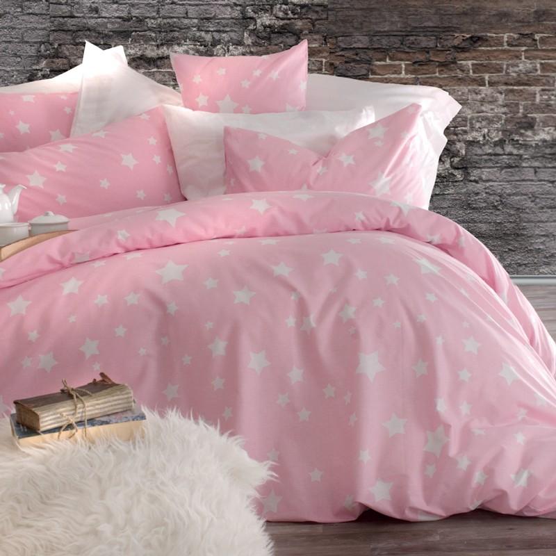 Σεντόνια Υπέρδιπλα (Σετ) Rythmos Nova Stardust Pink ΧΩΡΙΣ ΛΑΣΤΙΧΟ 220×260 ΧΩΡΙΣ ΛΑΣΤΙΧΟ 220×260