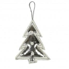 Χριστουγεννιάτικο Στολίδι Nef-Nef Xmas Small Tree Silver