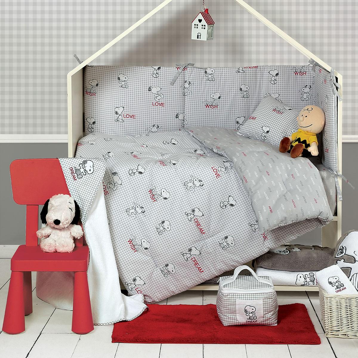 Σεντόνια Κούνιας (Σετ) Nef-Nef Baby My Snoopy