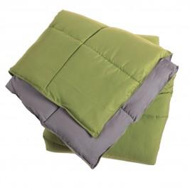 Πάπλωμα Υπέρδιπλο 2 Όψεων Nef-Nef Bicolor Green-Grey