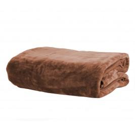Κουβέρτα Βελουτέ Υπέρδιπλη Nef-Nef Loft Brown