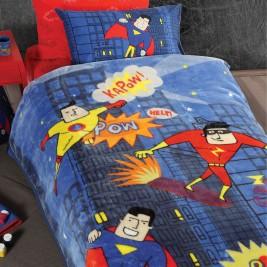 Κουβέρτα Βελουτέ Μονή Nef-Nef Junior Super Heroes