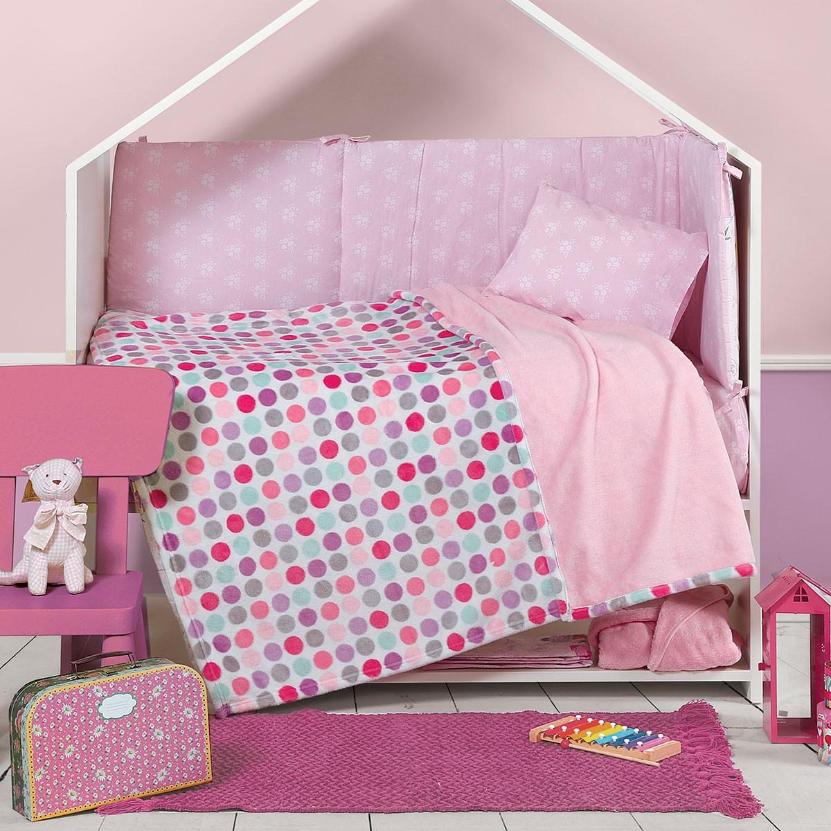 Κουβέρτα Fleece Κούνιας Nef-Nef Petit Blanket Pink
