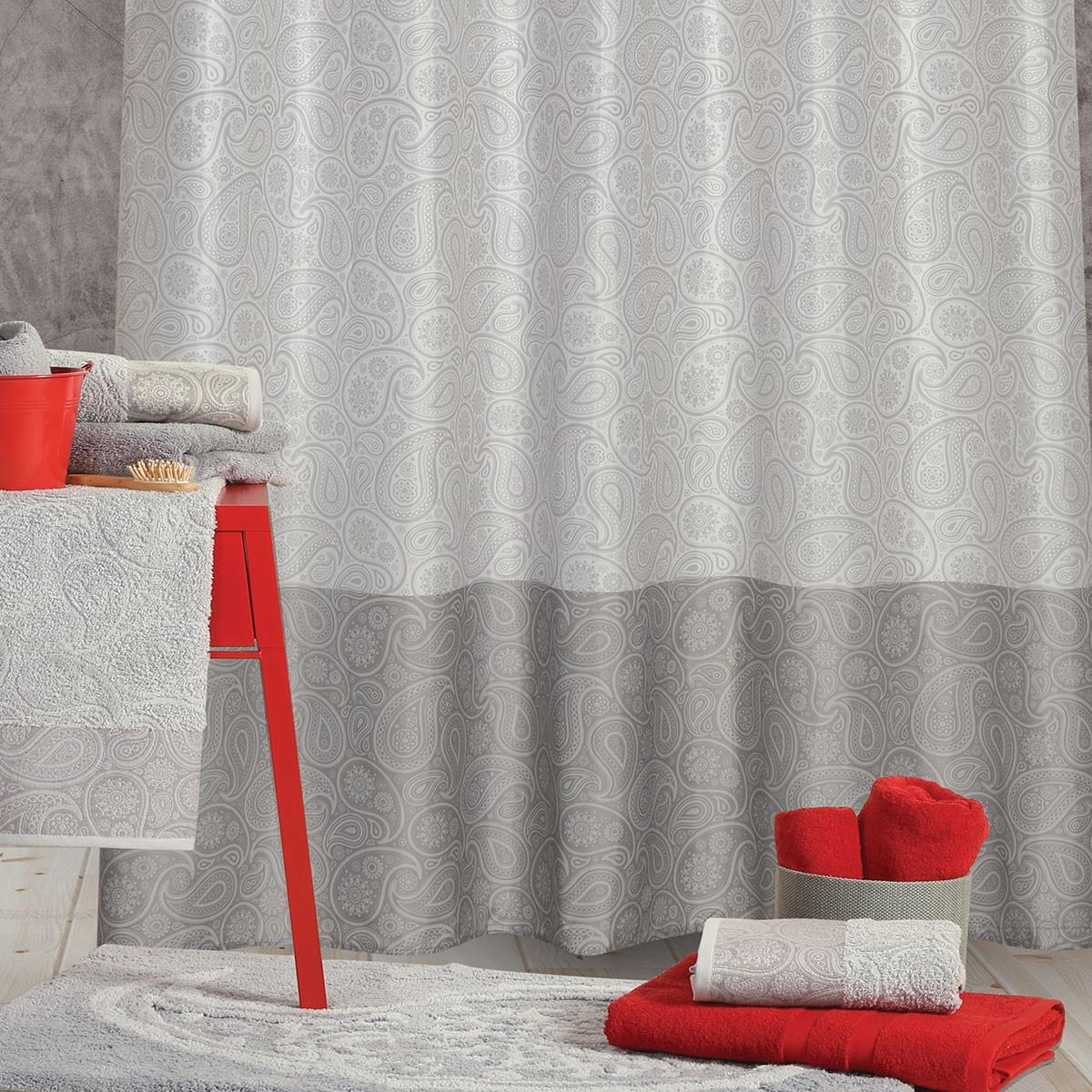 Κουρτίνα Μπάνιου (180×180) Nef-Nef Lahour Grey