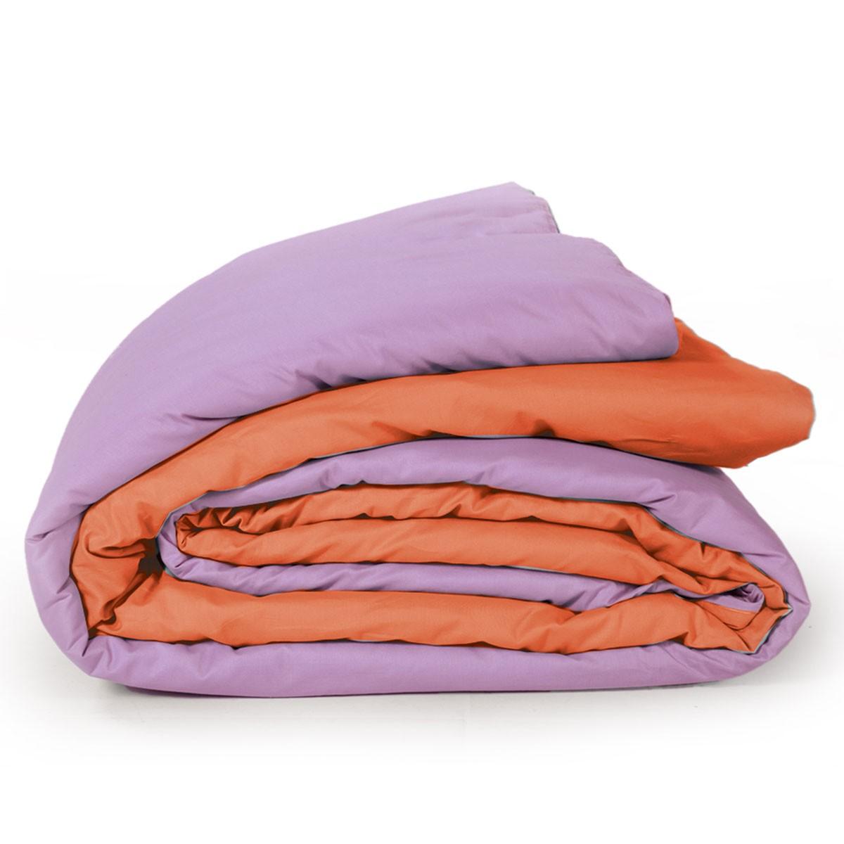 Παπλωματοθήκη Μονή 2 Όψεων Nef-Nef Bicolor Violet/Orange