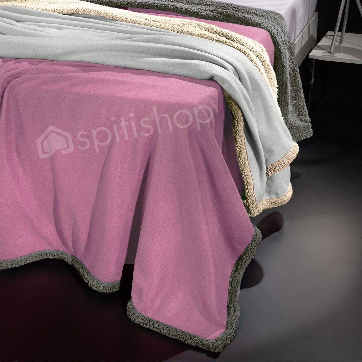 Κουβέρτα Fleece Υπέρδιπλη Nima Twinkle Old Rose