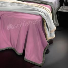 Κουβέρτα Fleece Μονή Nima Twinkle Old Rose