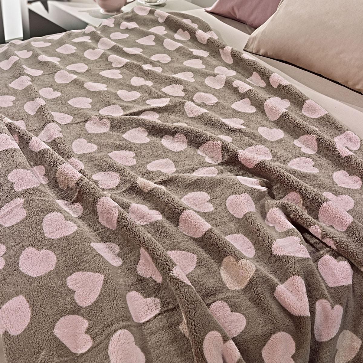 Κουβέρτα Fleece Υπέρδιπλη Nima Llama Mon Coeur 01