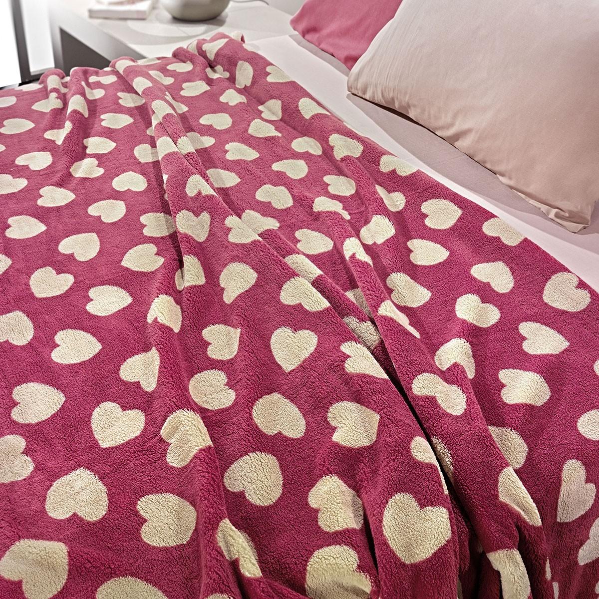 Κουβέρτα Fleece Υπέρδιπλη Nima Llama Mon Coeur 02