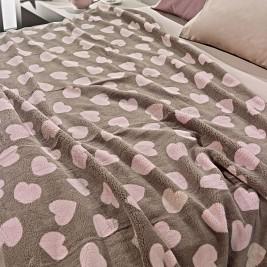 Κουβέρτα Fleece Μονή Nima Llama Mon Coeur 01