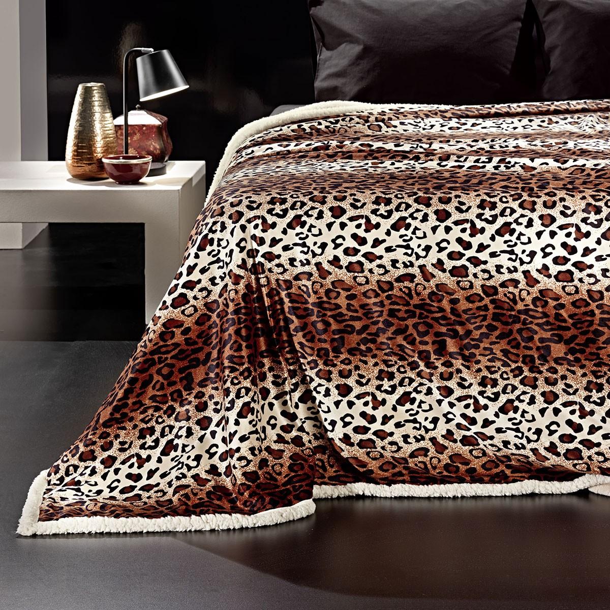 Κουβέρτα Fleece Υπέρδιπλη Με Γουνάκι Nima Rancho Nasiba