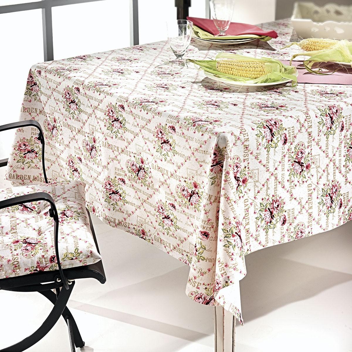 Τραπεζομάντηλο (150×150) Nima Garden Rose 01 Pink