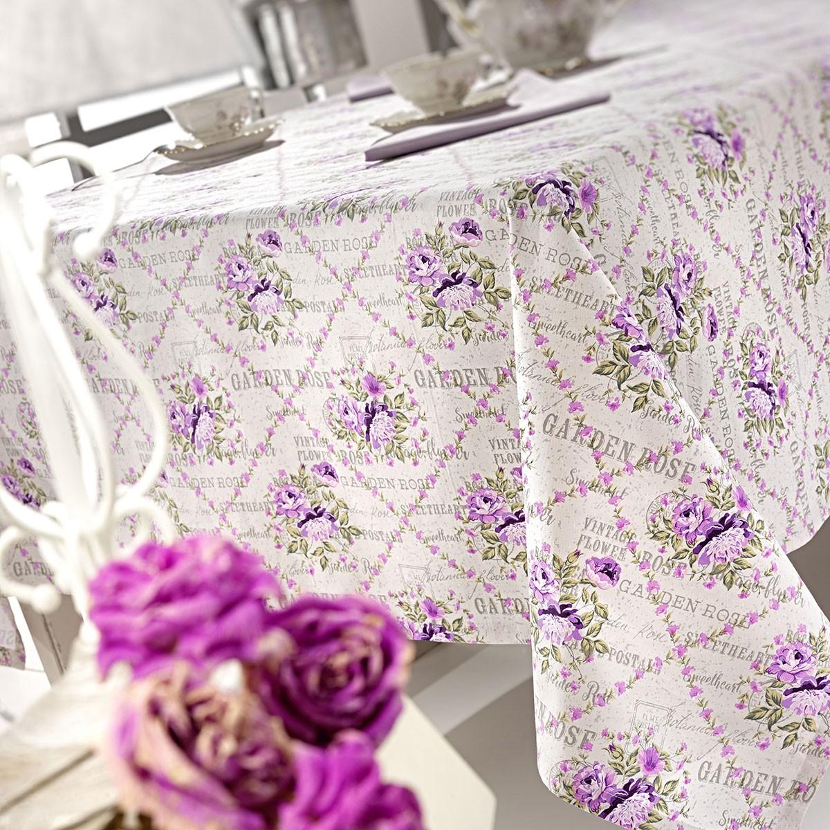 Τραπεζομάντηλο (150x190) Nima Garden Rose 02 Lilac