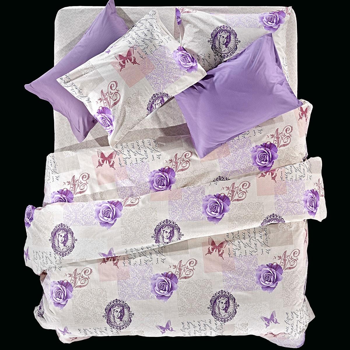 Παπλωματοθήκη Υπέρδιπλη (Σετ) Nima Cotton N' Style Papillon 02