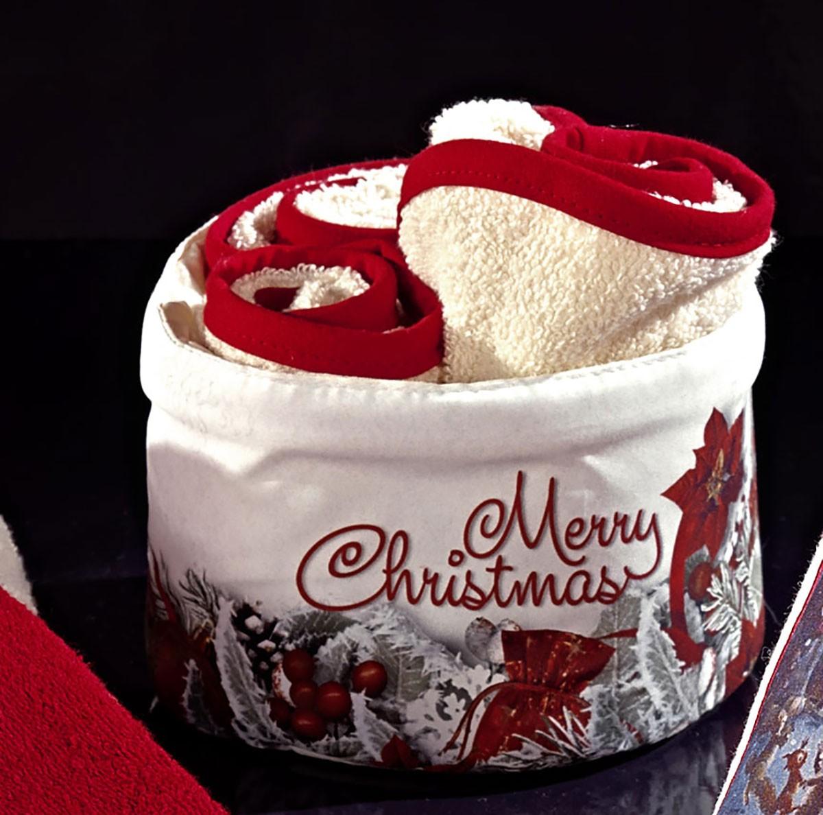 Πετσέτες Δώρου (Σετ 4τμχ) Nima Mistletoe home   χριστουγεννιάτικα   χριστουγεννιάτικες πετσέτες