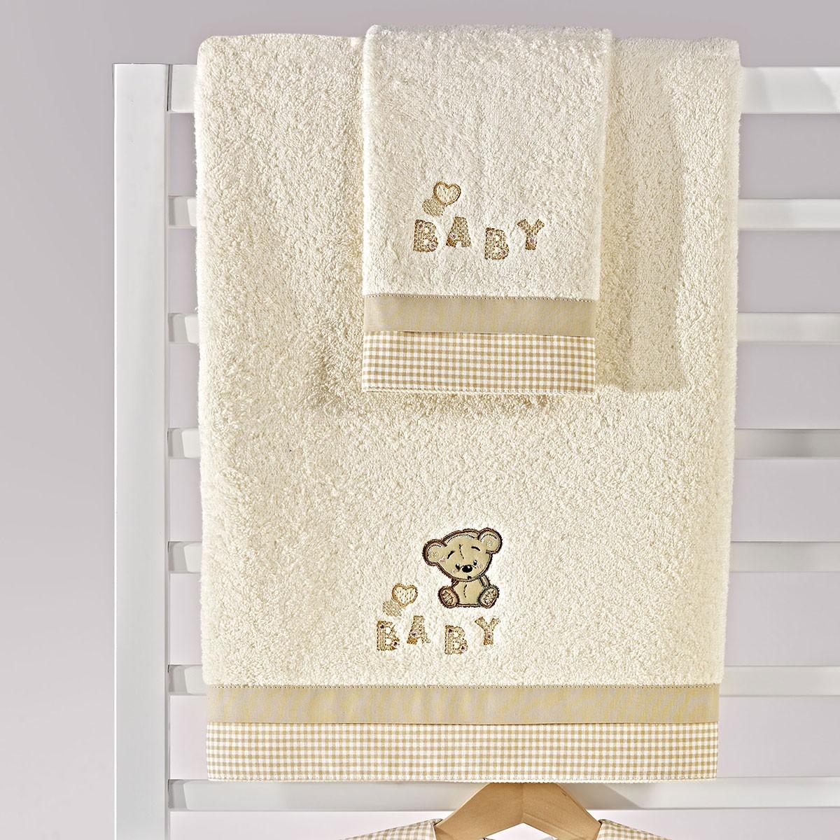 Βρεφικές Πετσέτες (Σετ 2τμχ) Nima Mama-Dada Baby Teddy