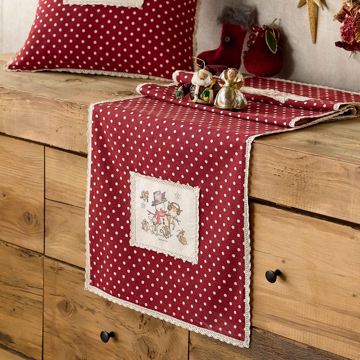 Χριστουγεννιάτικη Τραβέρσα Gofis Home Frosty 877
