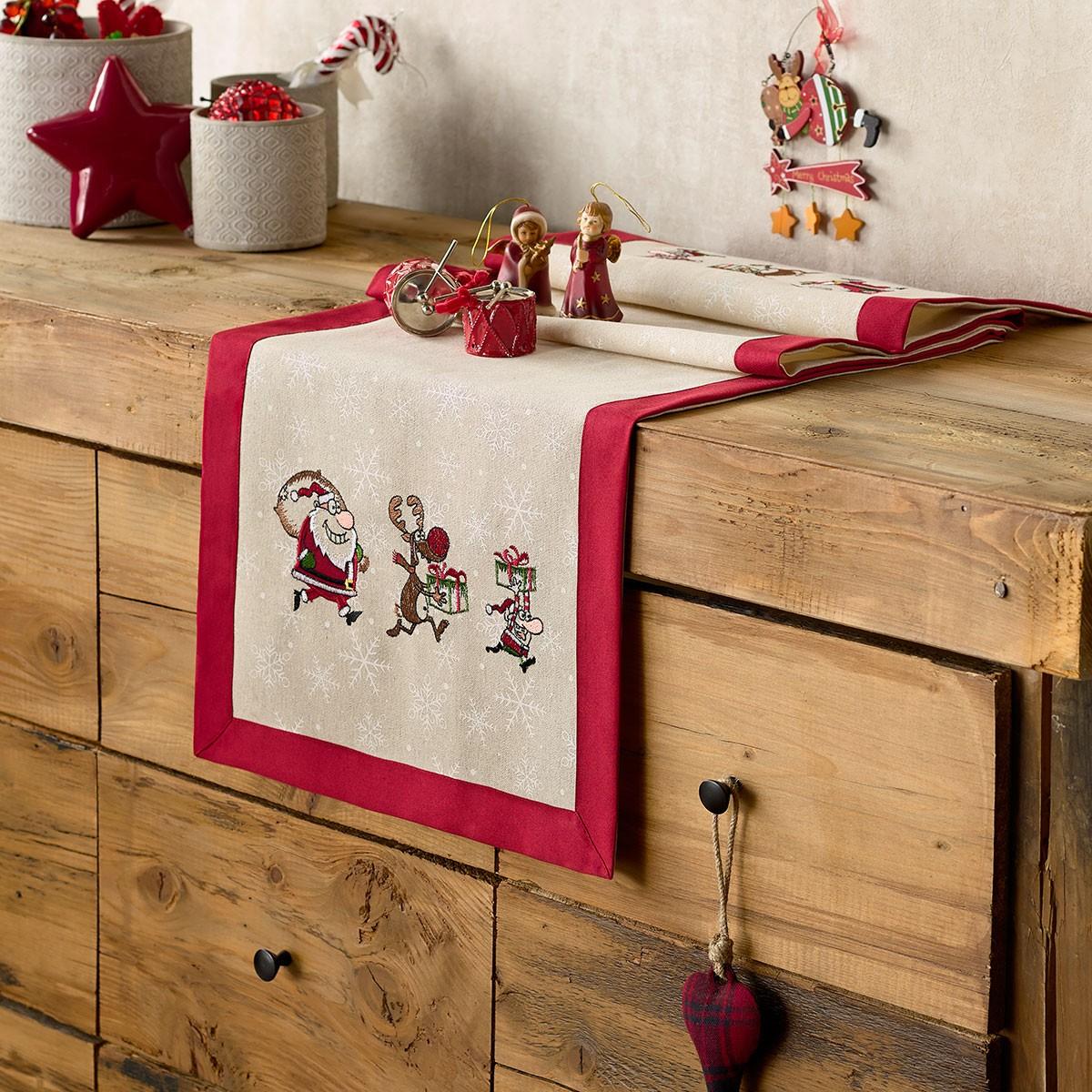 Χριστουγεννιάτικη Τραβέρσα Gofis Home 921