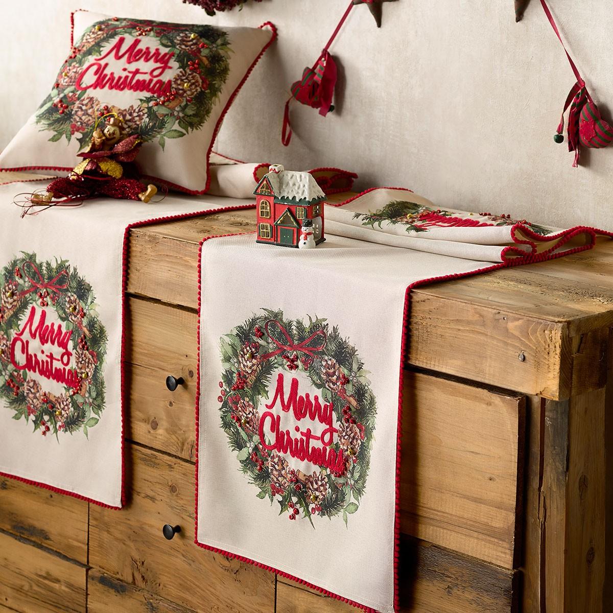 Χριστουγεννιάτικη Τραβέρσα Gofis Home Wish 978