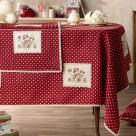 Χριστουγεννιάτικο Τραπεζομάντηλο (135×135) Gofis Home Frosty 877