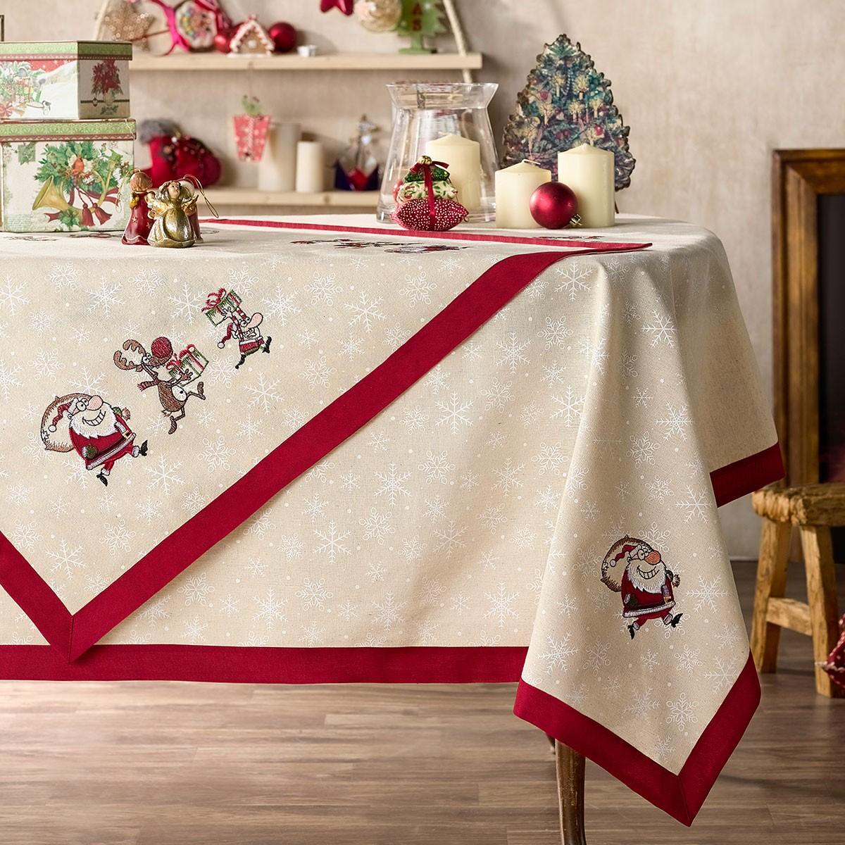 Χριστουγεννιάτικο Τραπεζομάντηλο (135x135) Gofis Home 921