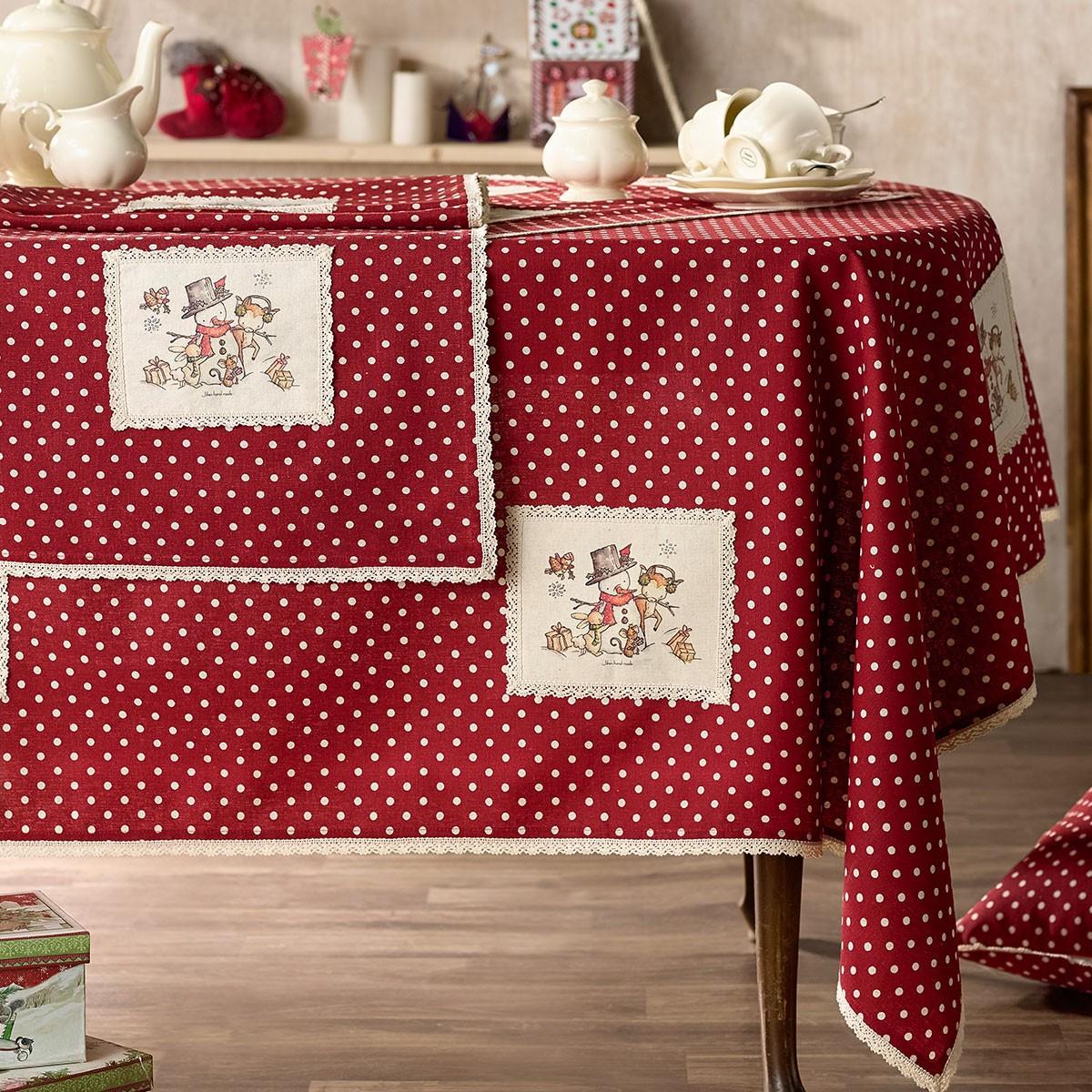 Χριστουγεννιάτικο Τραπεζομάντηλο (135×180) Gofis Home Frosty 877