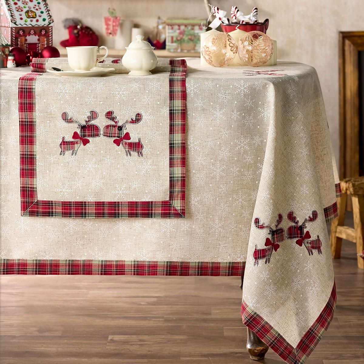 Χριστουγεννιάτικο Τραπεζομάντηλο (145x220) Gofis Home 232