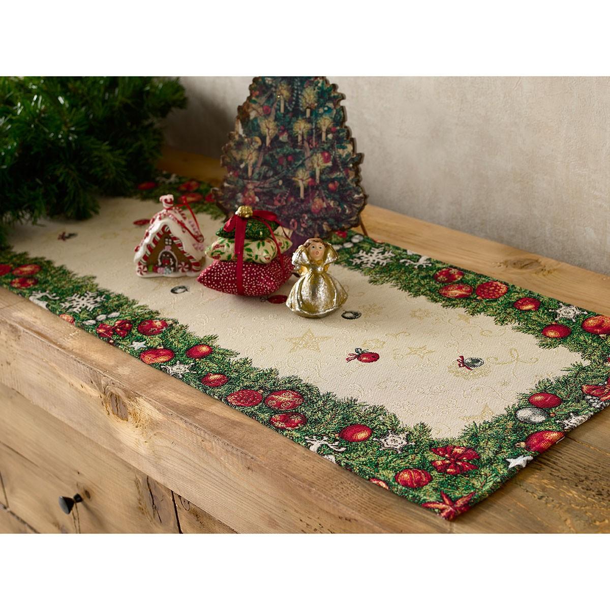 Χριστουγεννιάτικη Τραβέρσα (45x140) Gofis Home 209 home   χριστουγεννιάτικα   χριστουγεννιάτικες τραβέρσες