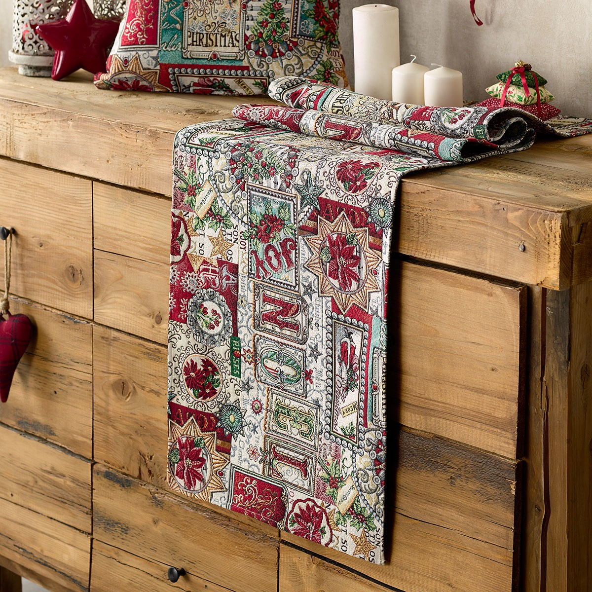 Χριστουγεννιάτικη Τραβέρσα Gofis Home Joy 636