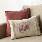 Διακοσμητική Μαξιλαροθήκη Gofis Home Bouquet Purple 566/17
