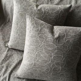 Διακοσμητική Μαξιλαροθήκη Gofis Home Scribble Grey 595/15