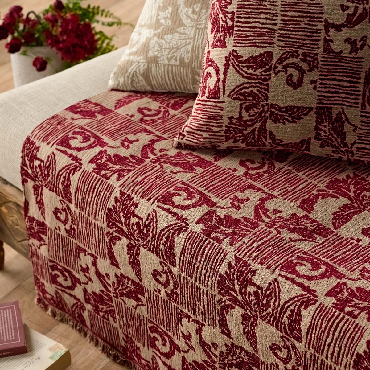 Ριχτάρι Τετραθέσιου (180x350) Gofis Home Mosaic Bordeaux 851/02