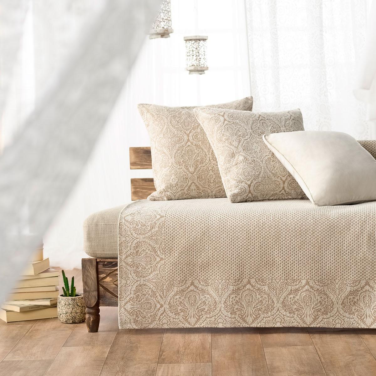 Κουρτίνα Τρουκς & Διακοσμητικό Μαξιλάρι Das Home 9217 (140x280)