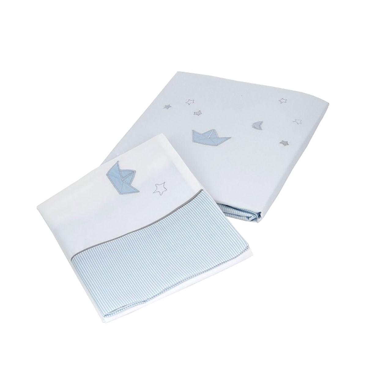 Παπλωματοθήκη Κούνιας (Σετ) Laura Ashley Stars Blue home   βρεφικά   παπλωματοθήκες βρεφικές