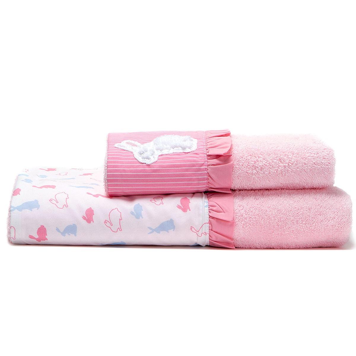 Βρεφικές Πετσέτες (Σετ 2τμχ) Laura Ashley Bunny Rabbit 58118