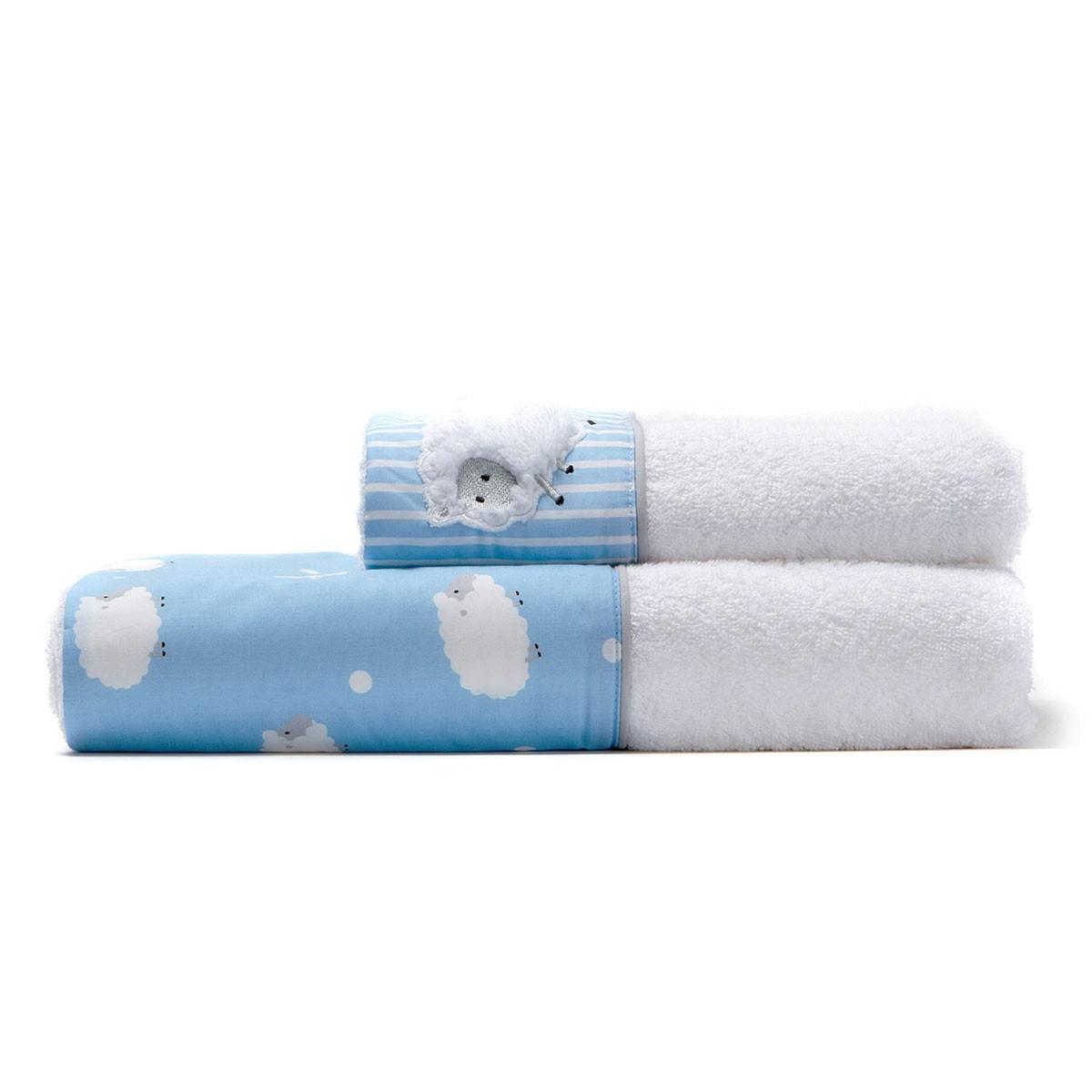 Βρεφικές Πετσέτες (Σετ 2τμχ) Laura Ashley Little Sheep