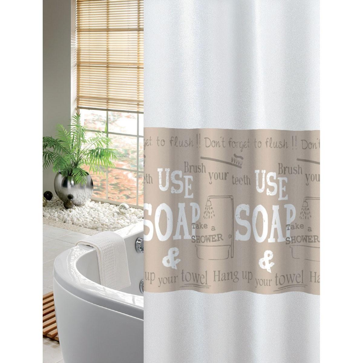 Κουρτίνα Μπάνιου (240x200) Joy Bath Soap