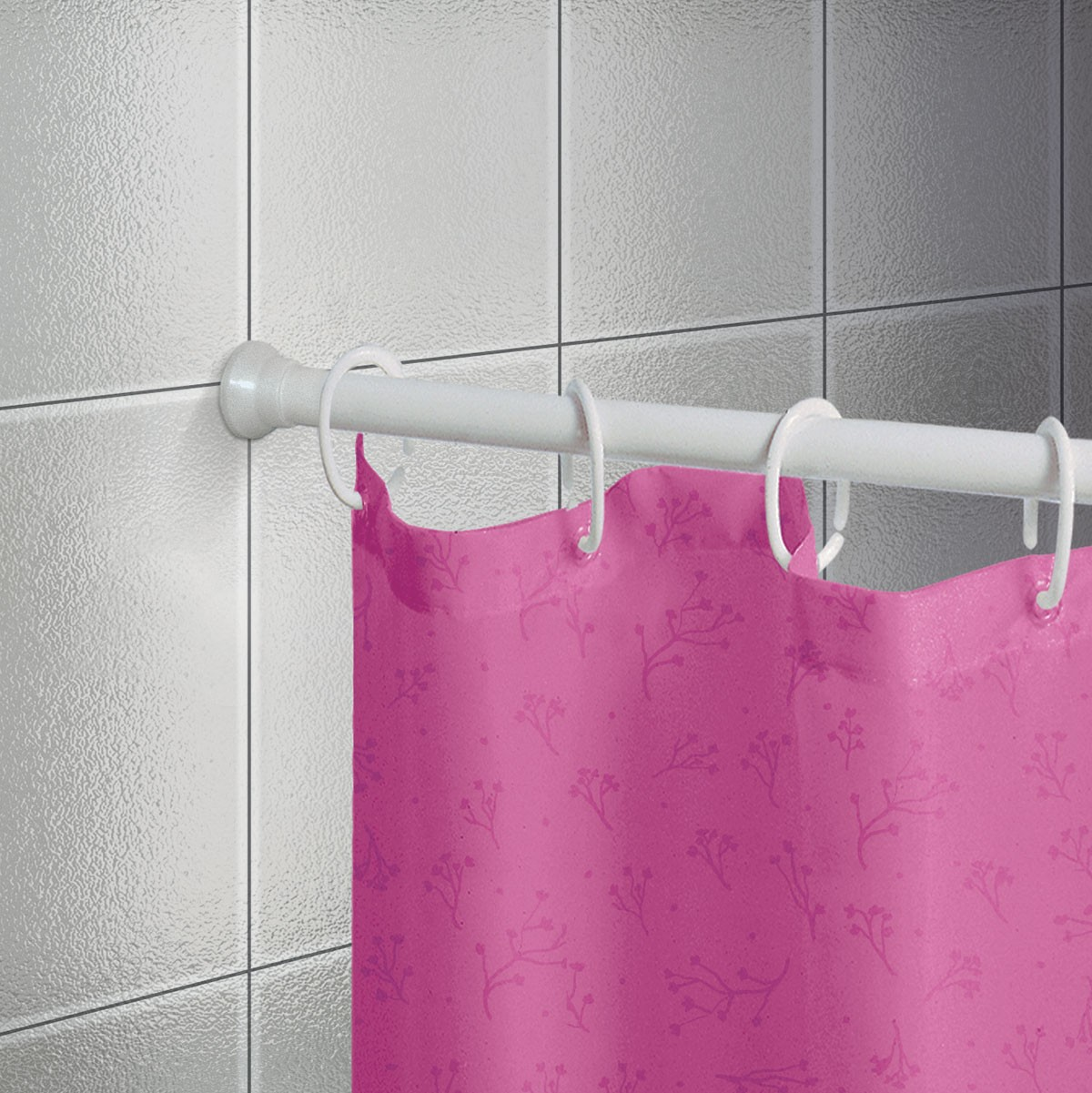 Βραχίονας Μπάνιου Πτυσσόμενος 125-220cm Joy Bath White