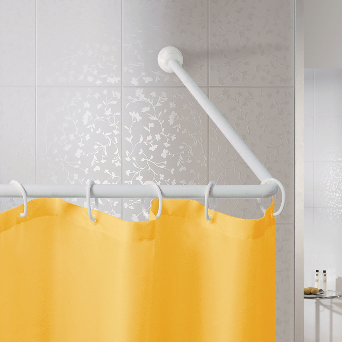 Βραχίονας Μπάνιου Γωνιακός 80×170 Joy Bath White