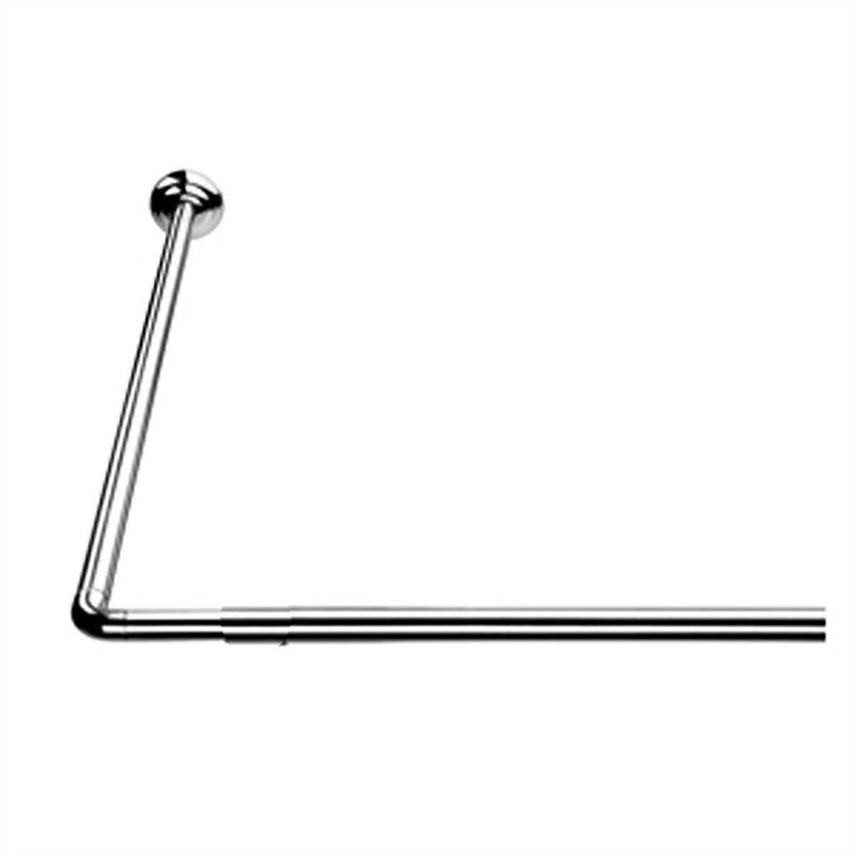Βραχίονας Μπάνιου Γωνιακός 90×90 Joy Bath Chrome