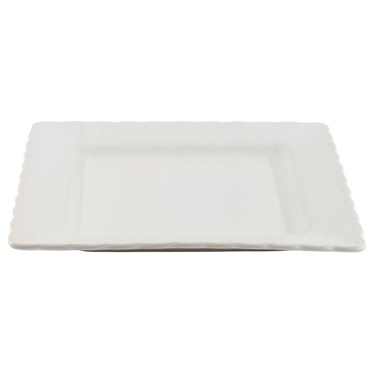 Πιάτα Φαγητού (Σετ 6τμχ) InArt Piedra White 3-60-520-0008